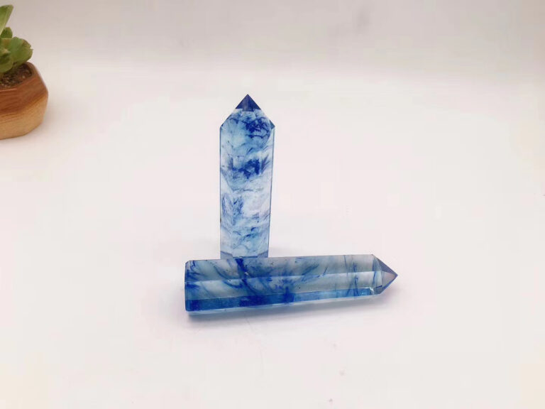 Artificial Blue Crystal Point