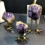 Amethyst Bird Ornament For Home Decorating