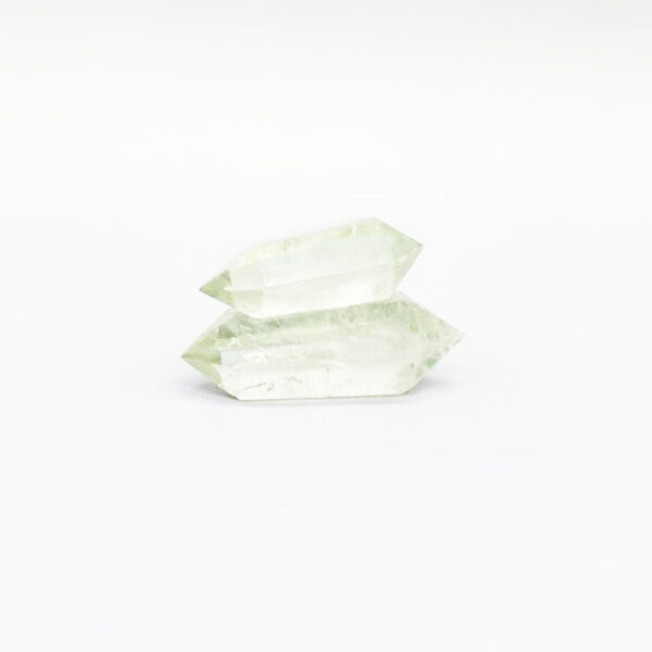 green crystal double points-3