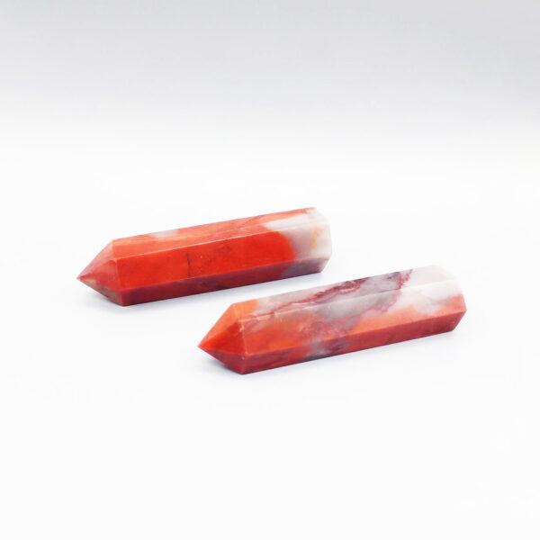 red agate crystal point-4