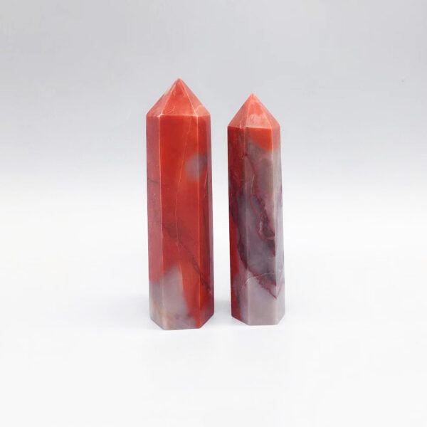 red agate crystal point