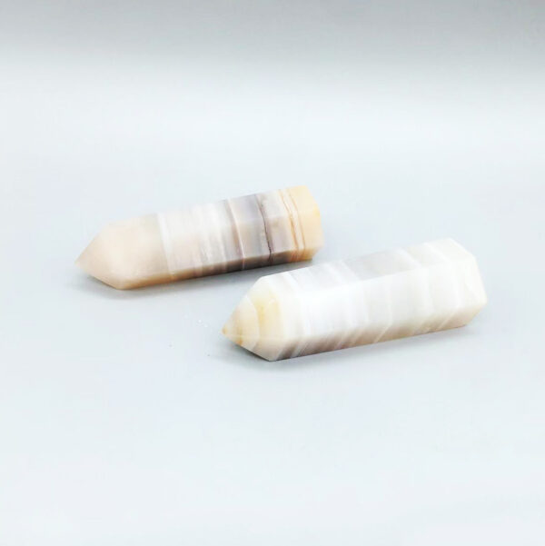 striped agated crystal point-4