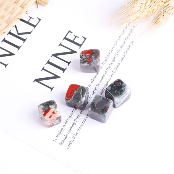 african bloodstone tumbled crystal cube set 2-2.5cm 13