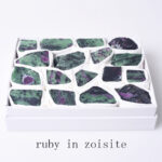 ruby in zoisite healing raw crystal set 37