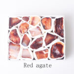 red agate healing raw crystal set 51