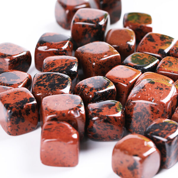 red obsidian tumbled crystal cube set 2-2.5cm 11