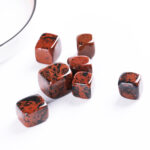 red obsidian tumbled crystal cube set 2-2.5cm 20