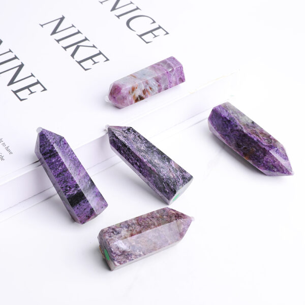 charoite crystal point set 19