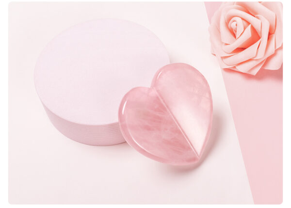 rose quartz scrapping plate and crystal massage set 37