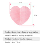 rose quartz scrapping plate and crystal massage set 4
